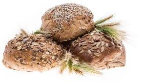 Three buns on white background Stock Photo