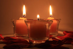 Three buring candles 2 Royalty Free Stock Images