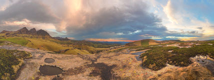 Three Bushmen Panorama Royalty Free Stock Photo