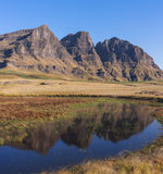 The Three Bushmen Peaks Stock Images