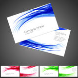 Three business card set, elements for design. Royalty Free Stock Photography