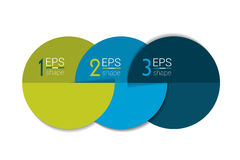 Three business elements banner, template. 3 steps design, chart, infographic, step by step number option, layout. 3D cyrcle style Stock Image