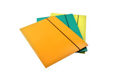 Three business folders Stock Photo