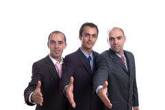 Three business men Stock Photos