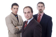 Three business men. Three business young white men Royalty Free Stock Photo