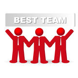 Three business men in the concept of the best team. Vector illustration Stock Images