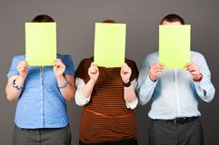 Three business people Stock Images