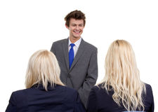 Three business people royalty free stock image