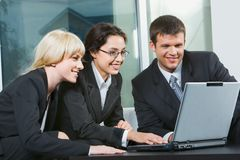 Three business people Royalty Free Stock Photography