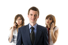 Three business people. Stock Photo