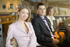 Three of Business People at Coffee Break royalty free stock photos