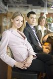Three of Business People at Coffee Break stock photos