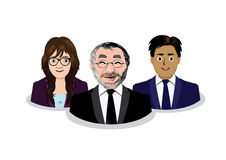 Three business people icons Stock Image