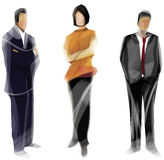 Three Business People Stock Image