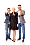 Three business people showing thumbs up Royalty Free Stock Photography