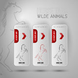 Three business tabs with horse symbols. Royalty Free Stock Photo