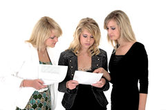 Three business woman 4. Three very demanding business woman 4 Stock Photos