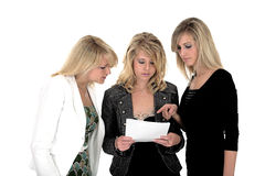Three business woman 5. Three very demanding business woman 5 Royalty Free Stock Images