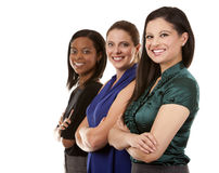 Three business women Stock Images