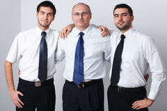 Three businessman celebrate success Royalty Free Stock Photography