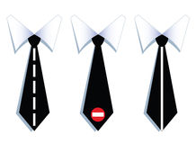 Three businessman neck ties with road lines. Royalty Free Stock Images
