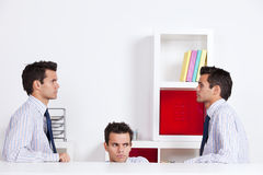 Three businessman at the office Royalty Free Stock Photo