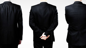 Three businessman standing back Royalty Free Stock Images