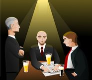 Three businessmen relaxing after work Stock Images