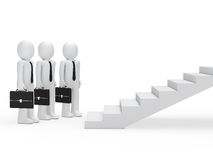 Three businessmen for stairs Stock Photos