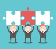 Free Three Businessmen With Puzzles Royalty Free Stock Photo - 76326075