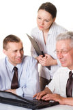 Three businessmen working Royalty Free Stock Photo