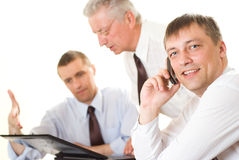 Three businessmen working Royalty Free Stock Image