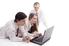 Three businesspeople Royalty Free Stock Photos