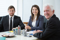 Three businesspeople Royalty Free Stock Images