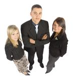 Three Businesspeople High Viewpoint Royalty Free Stock Photos