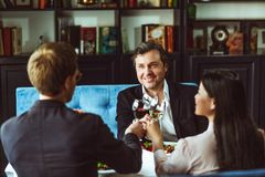 Businesspeople having business lunch Stock Photo
