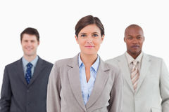 Three businesspeople standing together Royalty Free Stock Photography