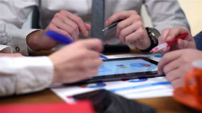 Three Businesspeople Using Touch Pad stock footage