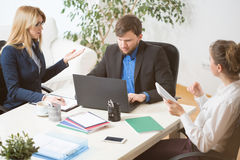 Three businesspeople Royalty Free Stock Image