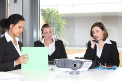 Three businesswoman working together Royalty Free Stock Images