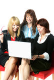 Three businesswomen Stock Photos