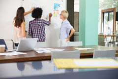 Three Businesswomen Having Creative Meeting In Office Stock Photos