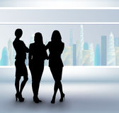 Three busineswomen Royalty Free Stock Image