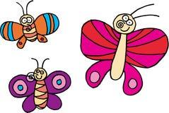 Three Butterflies Stock Photo