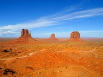 Three Buttes of Monument Valley Stock Photos