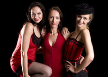Three cabaret Stock Image