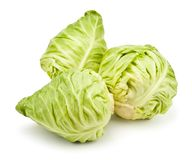 Three cabbages Stock Photo