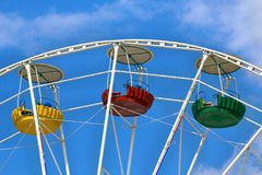 Three cabins Ferris wheel Royalty Free Stock Photos