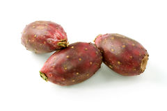 Three Cactus Pears. Three fresh red cactus or prickly pears Stock Images