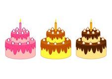 Three Cakes Royalty Free Stock Image